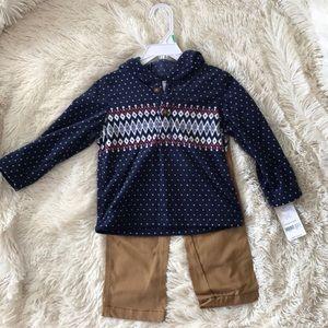 Hooded Fleece Sweatshirt with Matching Khakis
